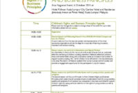 New Event Planning Itinerary Template