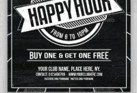 New Happy Hour Menu Template