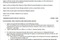 New Physical Therapy Policy And Procedure Manual Template