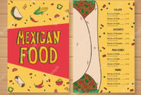 Professional Mexican Menu Template Free Download