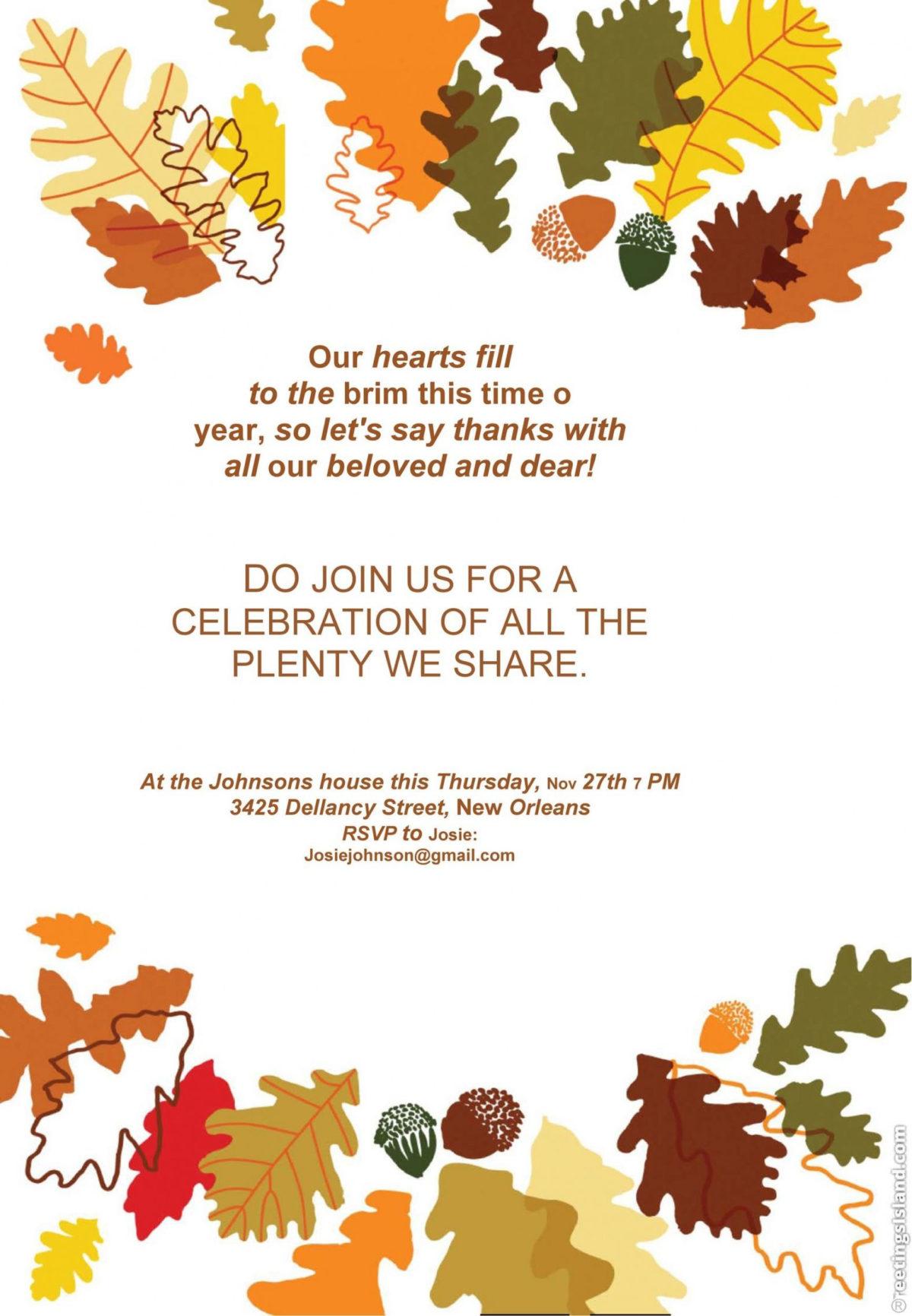 Free Thanksgiving Day Menu Template