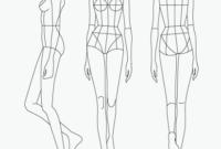 Stunning Blank Model Sketch Template