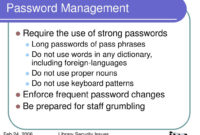 Stunning Password Management Policy Template