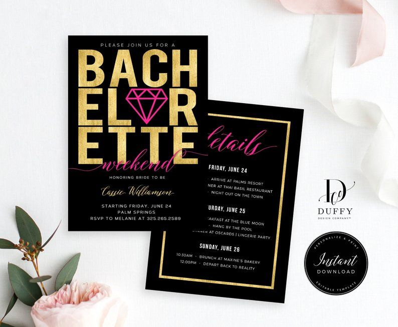 Top Bachelorette Weekend Itinerary Template