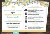 Top Bridal Shower Itinerary Template