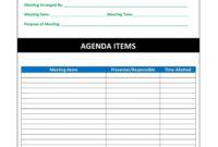 Top Project Management Kick Off Meeting Agenda Template