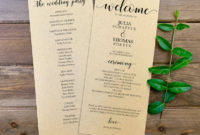 Top Wedding Ceremony Itinerary Template